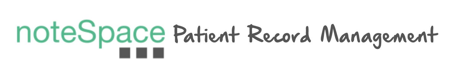 noteSpace Patient Record Management